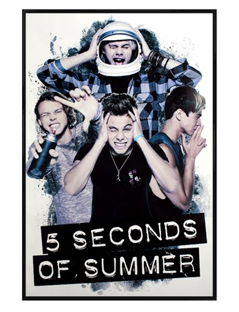 Gloss Black Framed Outback Pop Punk - 5 Seconds Of Summer