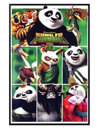 Gloss Black Framed Characters - Kung Fu Panda 3