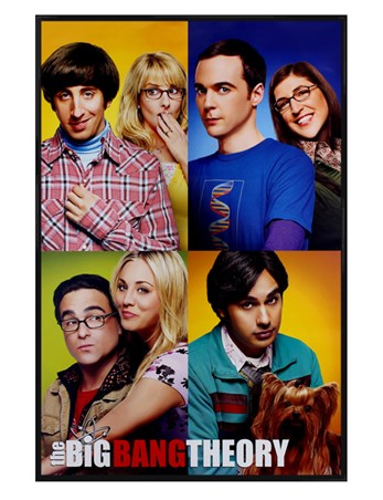 Gloss Black Framed Blocks - The Big Bang Theory