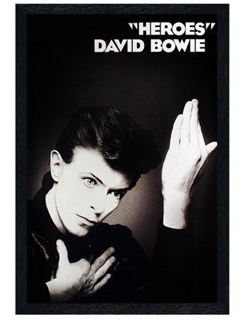 Black Wooden Framed Heroes - David Bowie