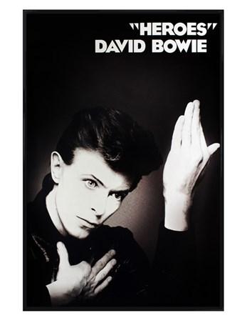 Framed Gloss Black Framed Heroes - David Bowie