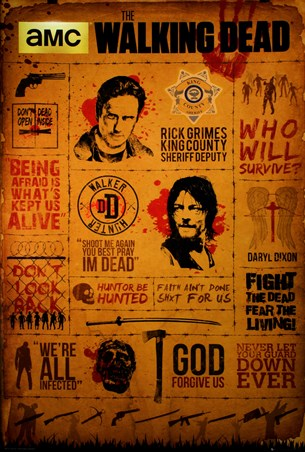 Character Infographic - The Walking Dead
