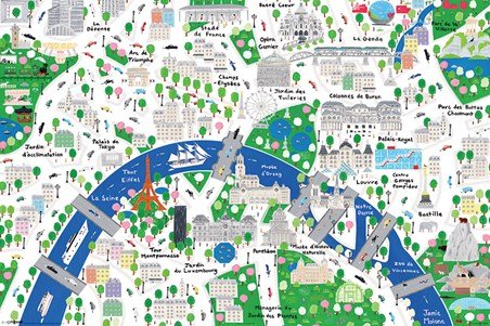 An Alternative Map Of Paris - Jamie Malone