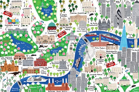 An Alternative Map Of London - Jamie Malone
