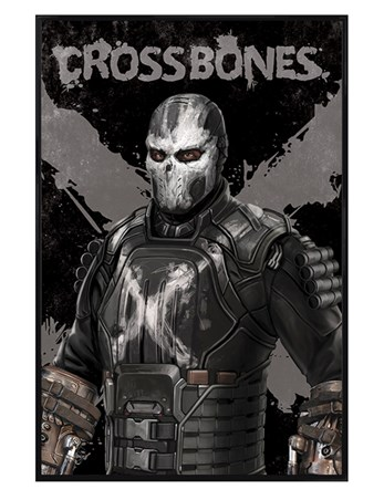 Gloss Black Framed Crossbones - Captain America Civil War