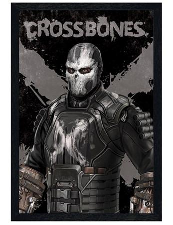 Black Wooden Framed Crossbones - Captain America Civil War