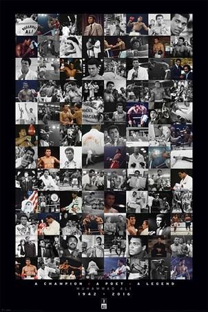 Framed A Commemorative Montage - Muhammad Ali