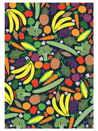 A Colourful Explosion - Vibrant Vegan Mini Poster
