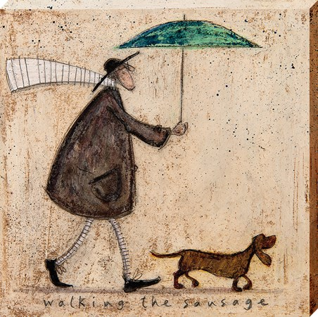 Framed Walking The Sausage - Sam Toft