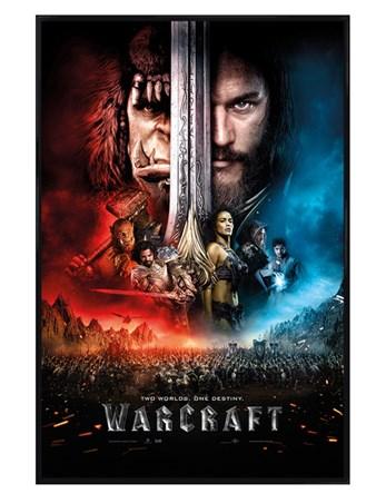 Gloss Black Framed One Sheet - Warcraft