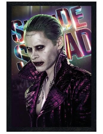 Black Wooden Framed Joker - Suicide Squad