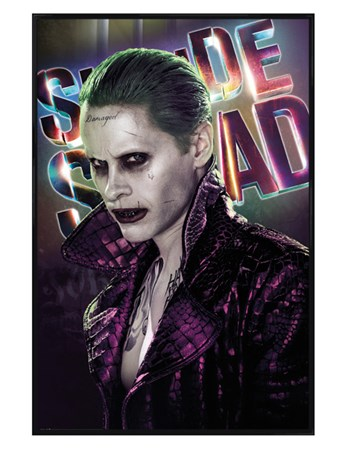 Gloss Black Framed The Joker - Suicide Squad