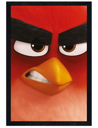 Black Wooden Framed Red - Angry Birds