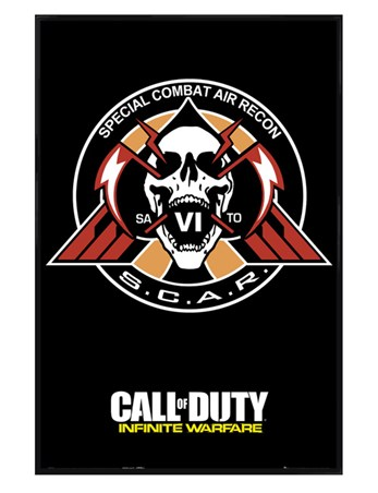 Gloss Black Framed Infinite Warfare Scar - Call Of Duty
