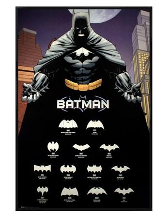 Gloss Black Framed Comics Logos - Batman