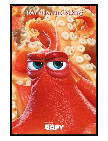 Gloss Black Framed New Rule No Talking - Finding Dory