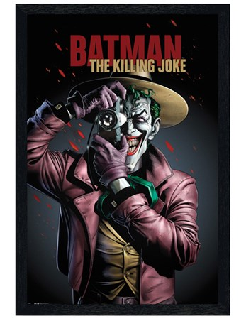 Black Wooden Framed The Joker - Killing Joke