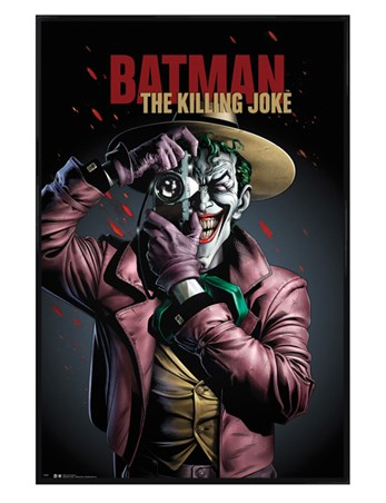 Gloss Black Framed Comic Joker - Killing Joke