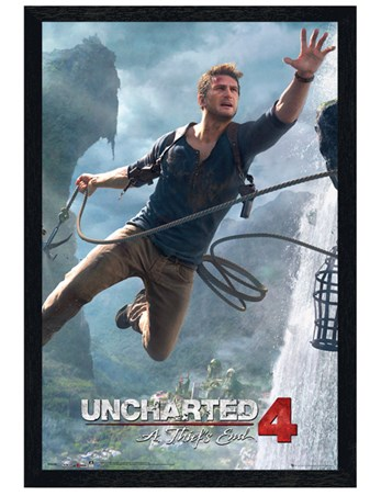 Black Wooden Framed A Thief's End - Uncharted 4
