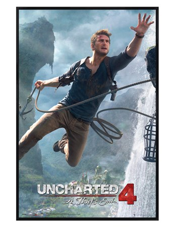 Gloss Black Framed Uncharted Jump - A Thief's End