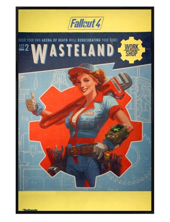 Gloss Black Framed Wasteland - Fallout 4