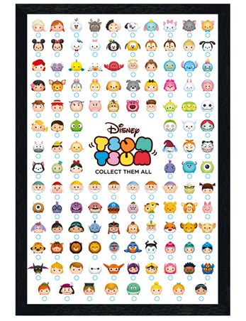 Black Wooden Framed Collect Them All - Tsum Tsum