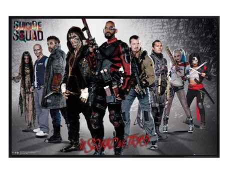 Gloss Black Framed Group - Suicide Squad