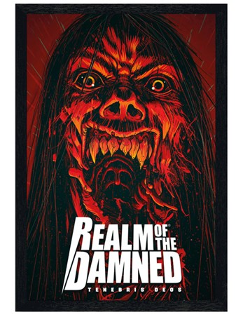 Black Wooden Framed Scream Framed Poster
