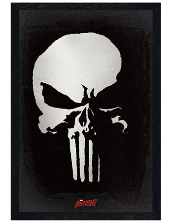 Black Wooden Framed TV Series Punisher - Daredevil
