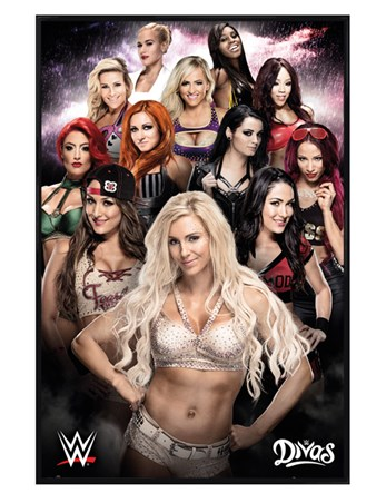 Gloss Black Framed Divas - WWE