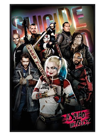 Gloss Black Framed In Squad We Trust - Suicide Squad
