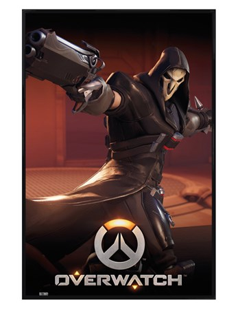 Gloss Black Framed Reaper - Overwatch