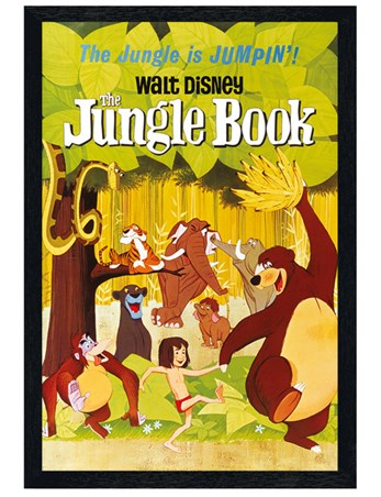 Black Wooden Framed Jumpin - The Jungle Book