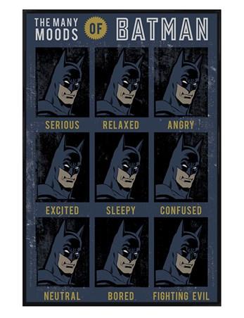 Gloss Black Framed The Many Moods Of Batman - DC Originals