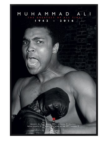 Gloss Black Framed Commemorative Greatest - Muhammad Ali