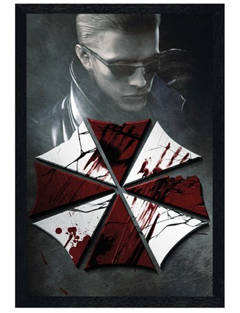 Black Wooden Framed Key Art - Resident Evil