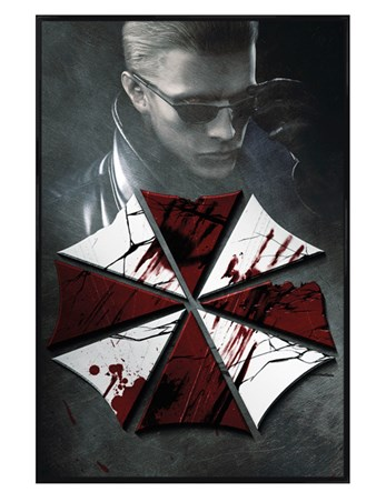 Gloss Black Framed Key Art - Resident Evil