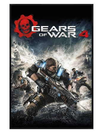 Gloss Black Framed Game Cover - Gears Of War 4