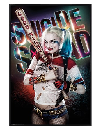 Gloss Black Framed Harley Quinn Good Night - Suicide Squad