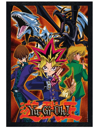 Black Wooden Framed Group - YU GI OH!