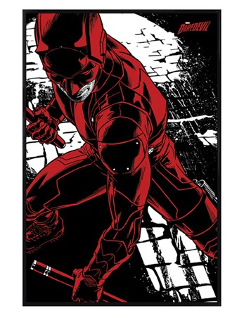 Gloss Black Framed Fight - Daredevil TV Series