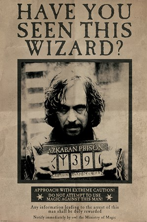 Framed Wanted Sirius Black - Harry Potter