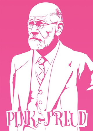 Pink Freud Mini Poster - Humour