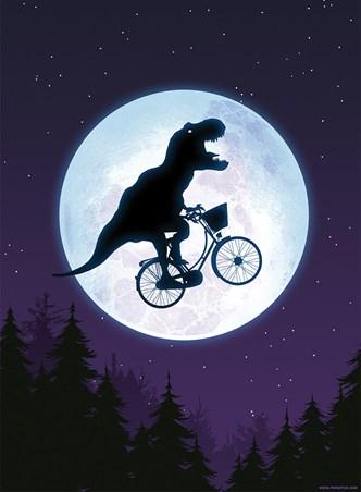 E.T-Rex Mini Poster - E.T Humour