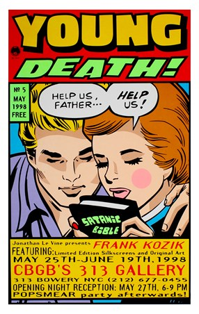 Framed Young Death! - Frank Kozik