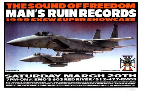 Framed Man's Ruin Records 1999 SXSW Showcase - Frank Kozik