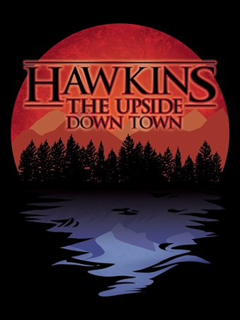 Framed The Upside Down Town Mini Poster - Hawkins