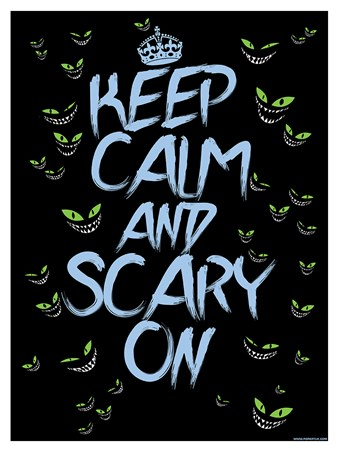 Keep Calm & Scary On Mini Poster - Keep Calm
