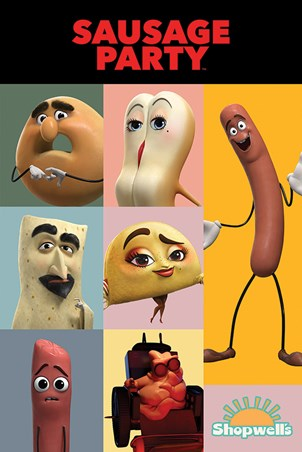 Framed Get Your Fill - Sausage Party Characters