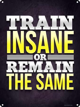 Train Insane Or Remain The Same - Gym Motivation